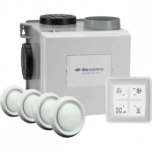 Itho Daalderop - Woonhuisventilator alles-in-1-pakket met RF bediening 375 m3/h